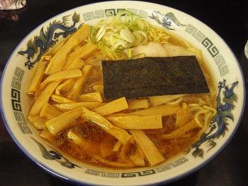 メンマらーめん(800円)醤油