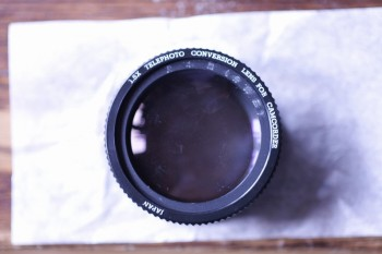 1.5x TELEPHOTO CONVERSION LENS FOR CAMCORDER